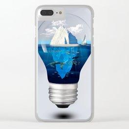 Iceburg in a Light Bulb Clear iPhone Case