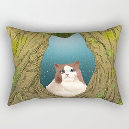 Luna in a tree hole Rectangular Pillow