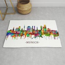 Munich Germany Skyline Rug
