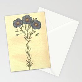 Flower 1086 linum austriacum Austrian Flax10 Stationery Cards