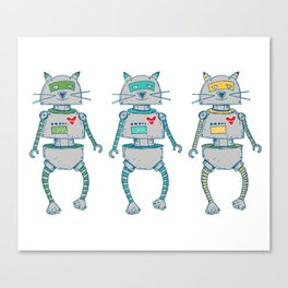 The Cat-Bot Trio Canvas Print