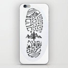 """Tread Lightly""  Hand-Drawn by Dark Mountain Arts iPhone Skin"