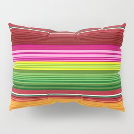 Mexican Blanket - Rainbow Striped Pillow Sham