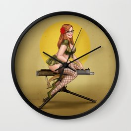 Christi Pinup Wall Clock