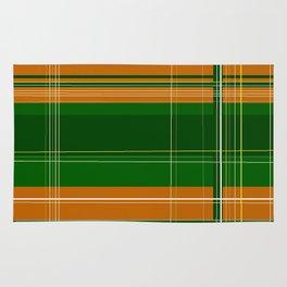 Green and Orange Plaid Rug