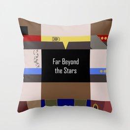DS9 - Far Beyond the Stars - Minimalist Star Trek DS9 Deep Space Nine - startrek - Trektangles Throw Pillow