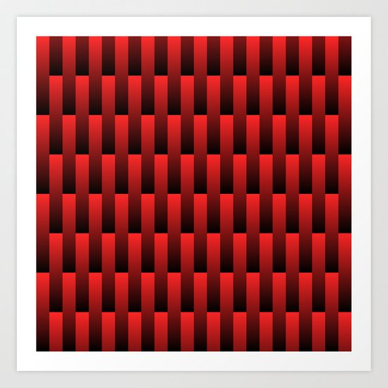 Red to Black Art Print