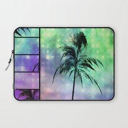 Grass Collage Purple & Green Lights Laptop Sleeve