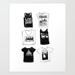 Band t-shirts Art Print