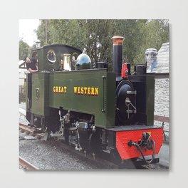 On the GWR vintage train Metal Print