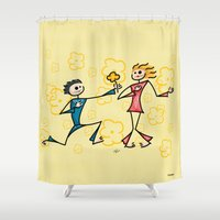 lovers Shower Curtains featuring Lovers by Giuseppe Lentini