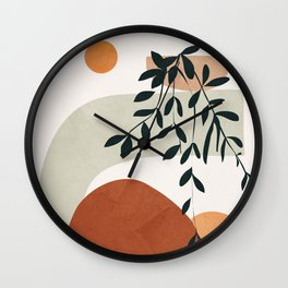 Soft Shapes I Wall Clock