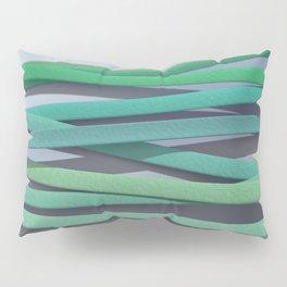 ribbon paper background green Pillow Sham
