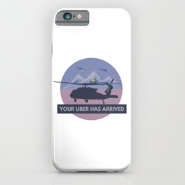 Black Hawk UH-60 Military Helicopter Pilot iPhone Case