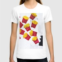 fries T-shirts featuring Oh fries by Drica Lobo Art