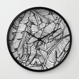 Black & White Jungle #society6 #decor #buyart Wall Clock