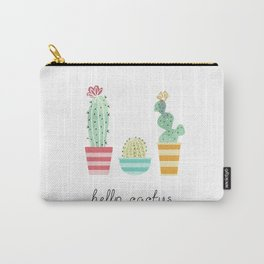 Hello Cactus Carry-All Pouch