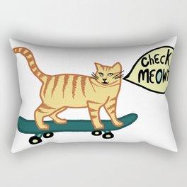 Check MEOWT! Skateboarding Tabby Cat Rectangular Pillow