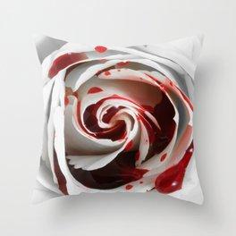 Bleeding Rose Macro Throw Pillow