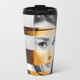 Leonardo's Lady with an Hermine & Audrey Hepburn Travel Mug