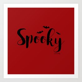 Spooky - red/black Art Print