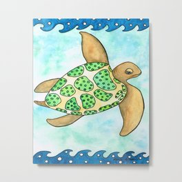 Timmy the Turtle Metal Print