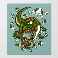 the mortal instruments Canvas Prints featuring Mortal egg by Adrian Filmore
