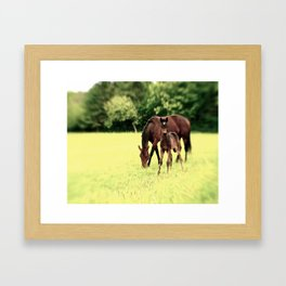 Stick'in with Mom Framed Art Print
