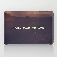 pocketfuel iPad Cases featuring I will fear no evil - Ps 23:4  by Pocket Fuel