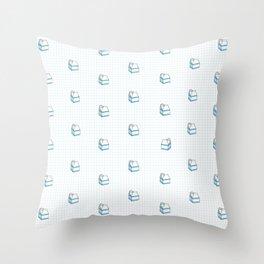 Milk Carton Pattern  Throw Pillow