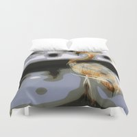 flamingo Duvet Covers featuring flamingo by Cool-Sketch-Len