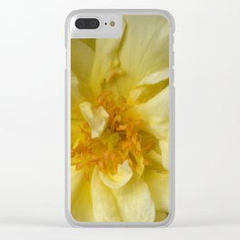 BLOOMING YELLOW Clear iPhone Case