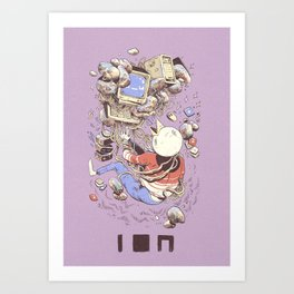 Blue Screen, Back form the Dead (LILAC) Art Print