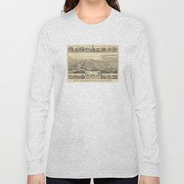 Vintage Pictorial Map of San Deigo CA (1887) Long Sleeve T-shirt