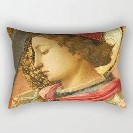 """Fra Filippo Lippi """"Archangel Michael"""" detail Rectangular Pillow"""