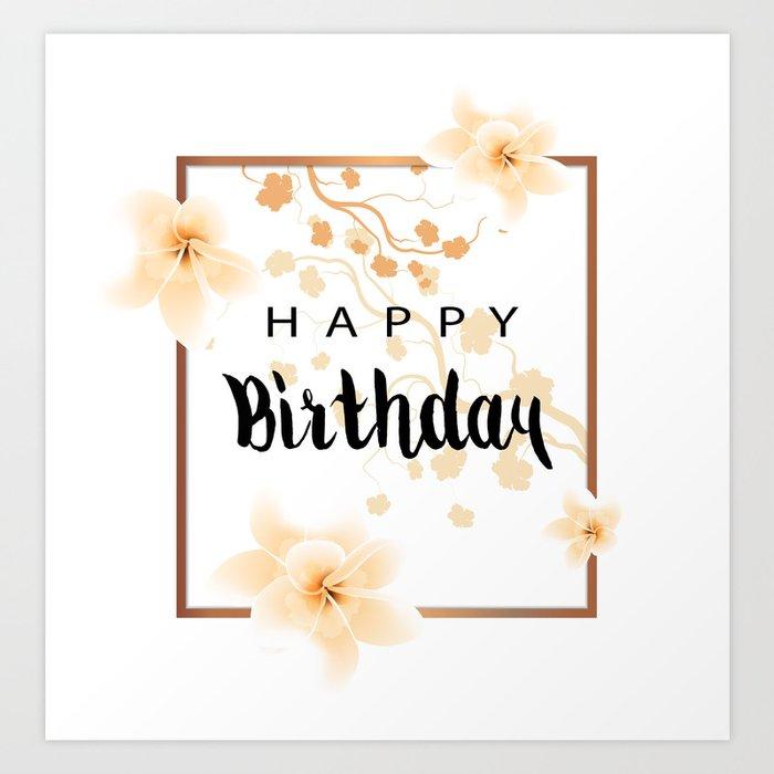 Happy Birthday Card Art Print by olgaaltunina | Society6