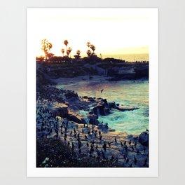 La Jolla Sunset Art Print