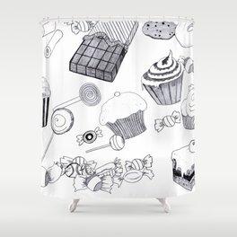Süßigkeiten Shower Curtain