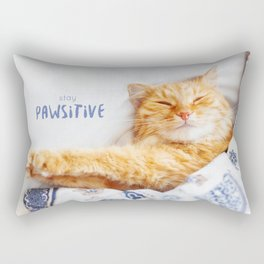 Stay pawsitive! Rectangular Pillow