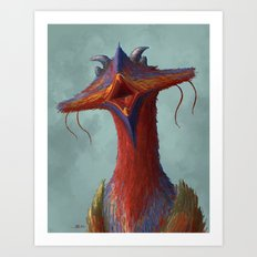 Beak portrait Art Print