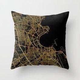 Doha map Throw Pillow