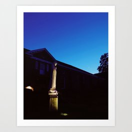 Mother Mary statue at dusk | Annapolis, MD Art Print