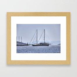 Schooner Yalikavak Marina Bodrum Framed Art Print