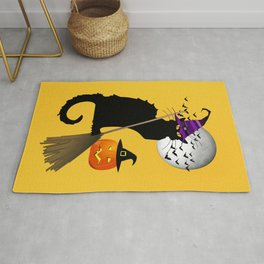 Le Chat Noir - Halloween Witch Rug