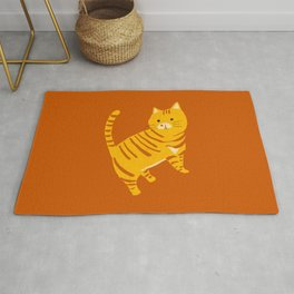 Orange Tabby Cat Rug