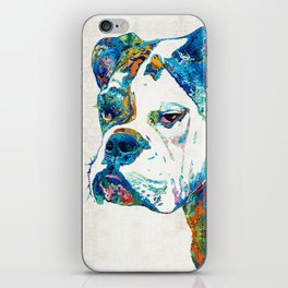 Colorful English Bulldog Art By Sharon Cummings iPhone Skin