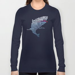 Shark in Different Languages Long Sleeve T-shirt