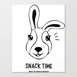 Rabbit snack time! Canvas Print