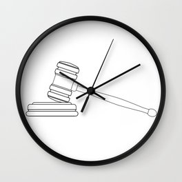 Judges Gravel Line Drawing Wall Clock