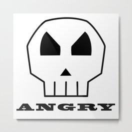 Angry Skull Metal Print